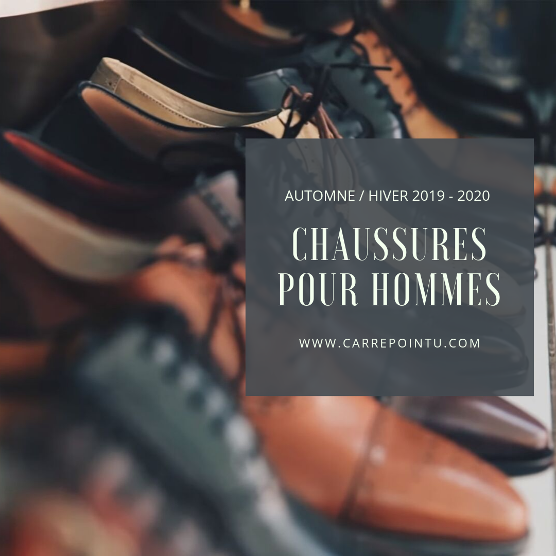 Chaussures homme automne-hiver 2019 2020